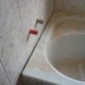 Nová koupelna a nějak jim rohy nevyšli