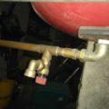 Pojistný ventil instalován vzhůru nohama
